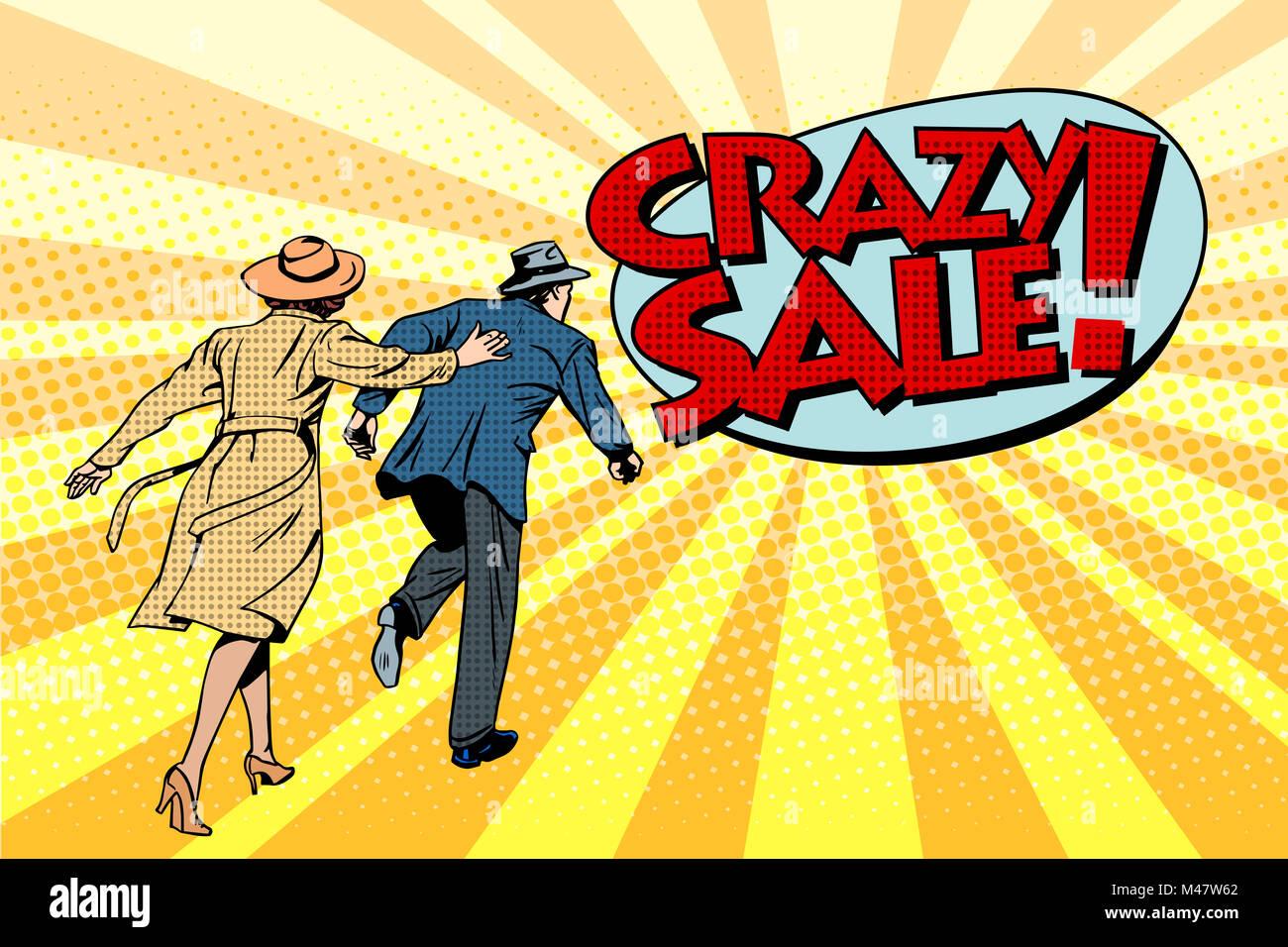 Crazy sale super discounts - Stock Image