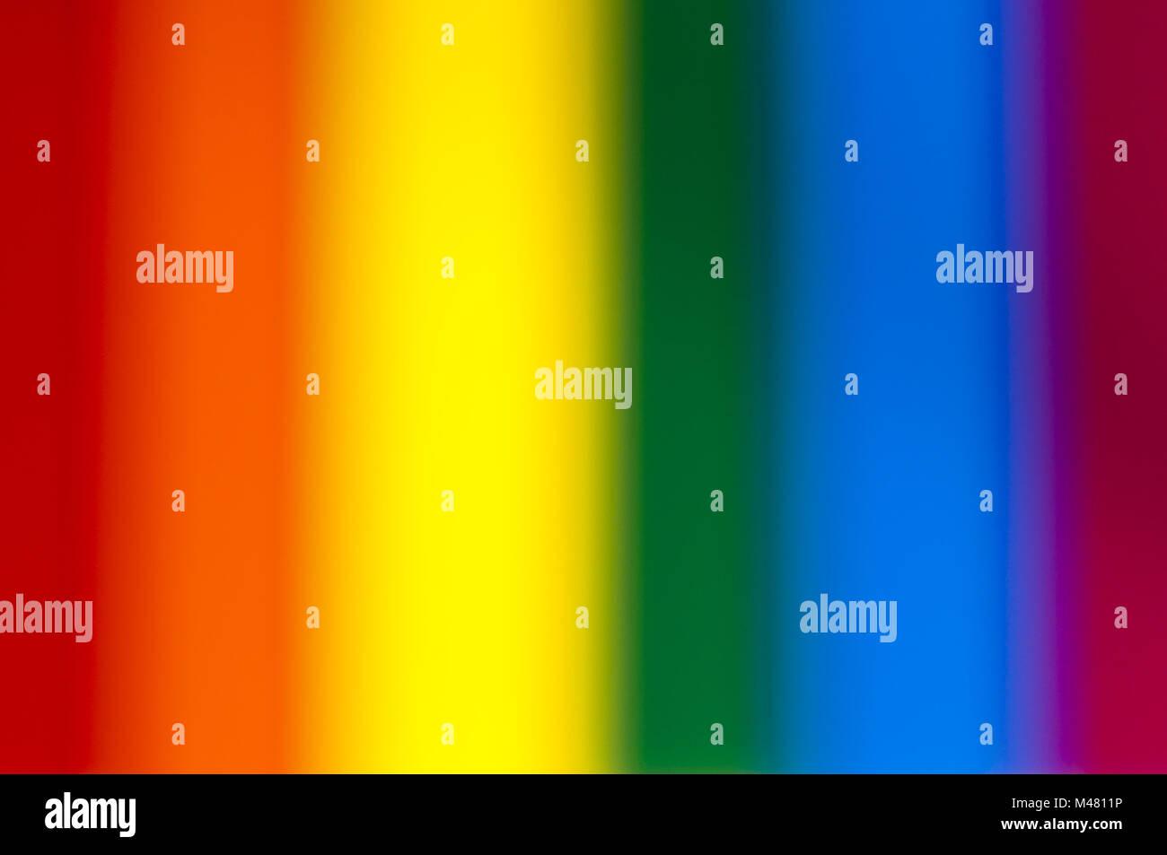 Blurred rainbow colors - Stock Image