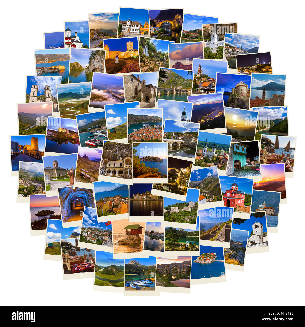 Stack of Montenegro and Bosnia travel images (my photos) - Stock Image