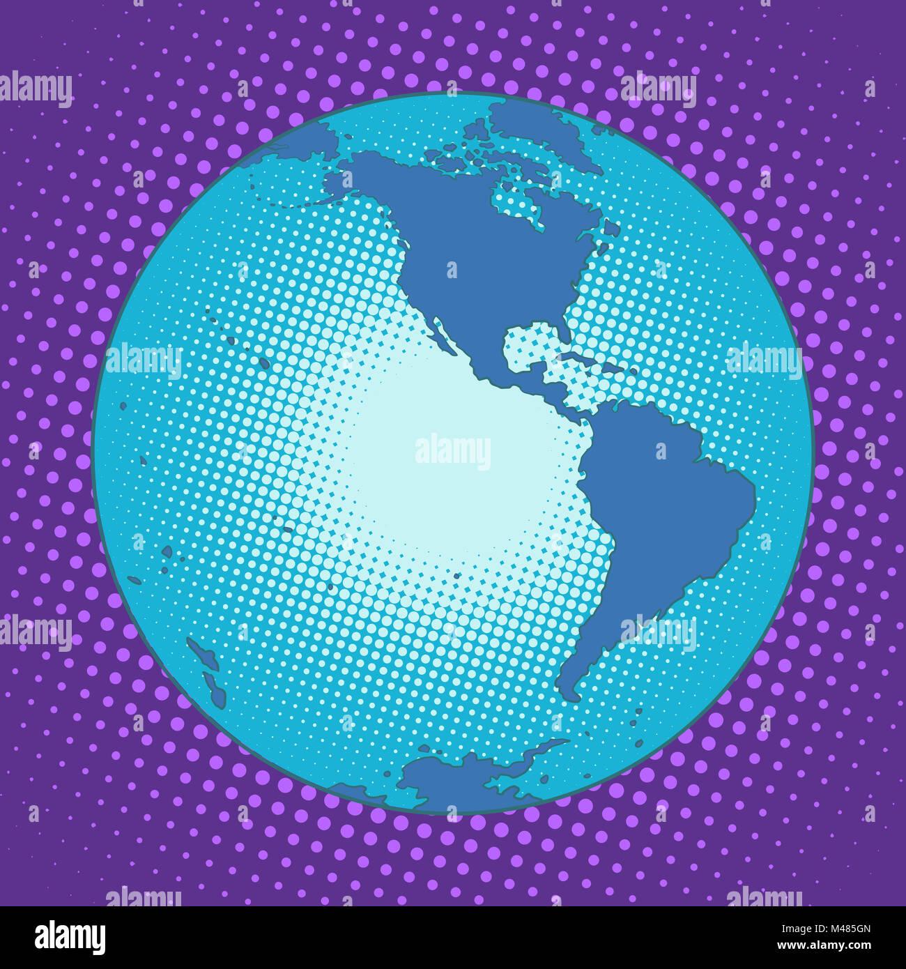 Planet Earth Western hemisphere - Stock Image