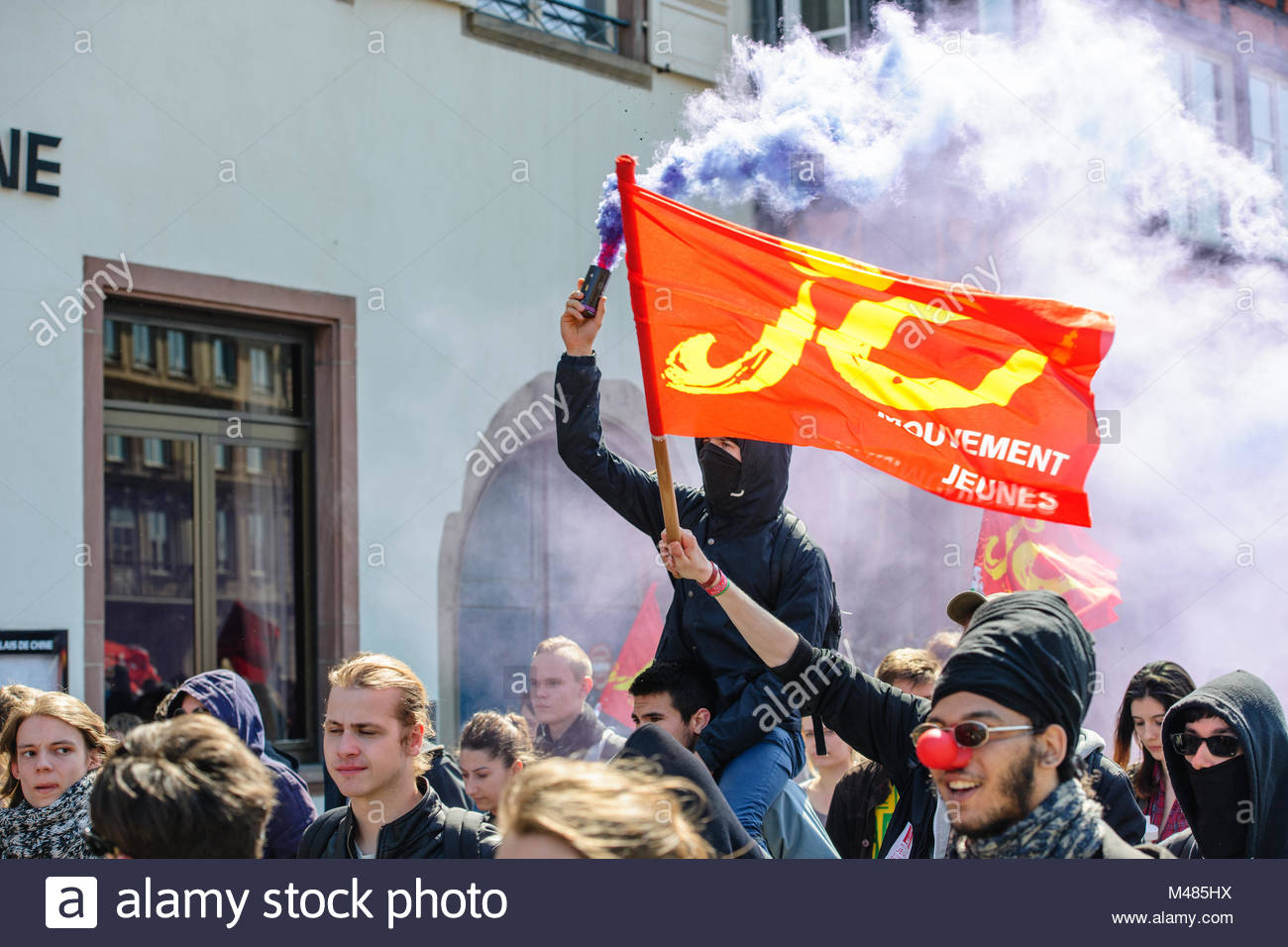 April protest against Labour reforms in France - Stock Image
