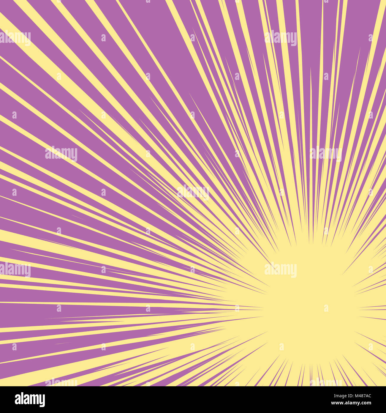 Bright burst background retro comic pop art - Stock Image
