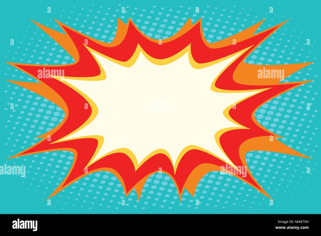 Comic book explosion bubble dynamic - Stock Image