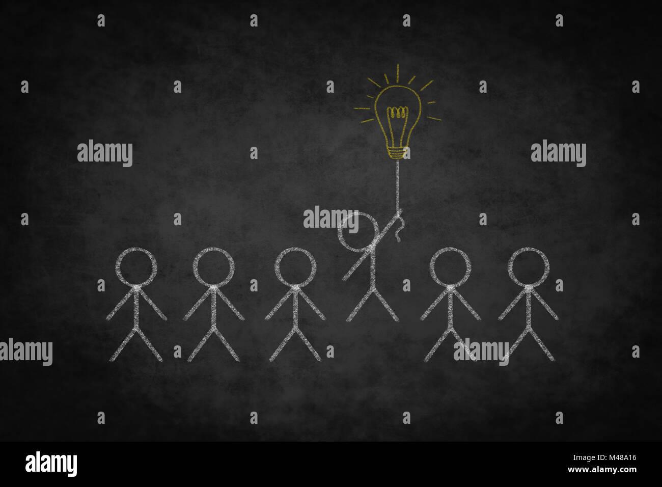 creativity concept  ,  winner concept illustration - Stock Image