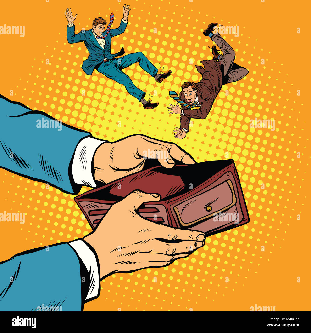 corruption bribe dependent on the money people - Stock Image