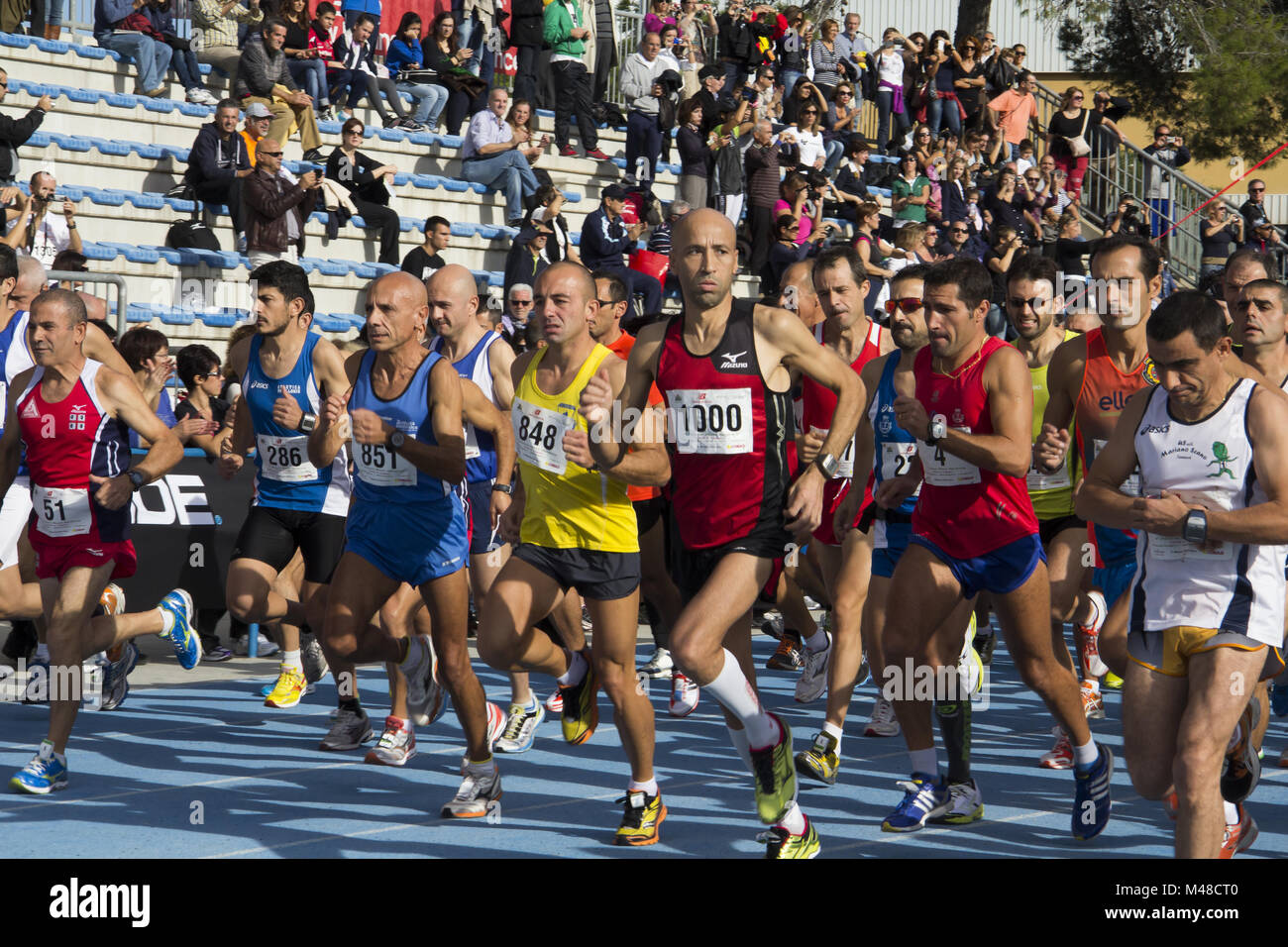 Marathon runners in the race - Stock Image