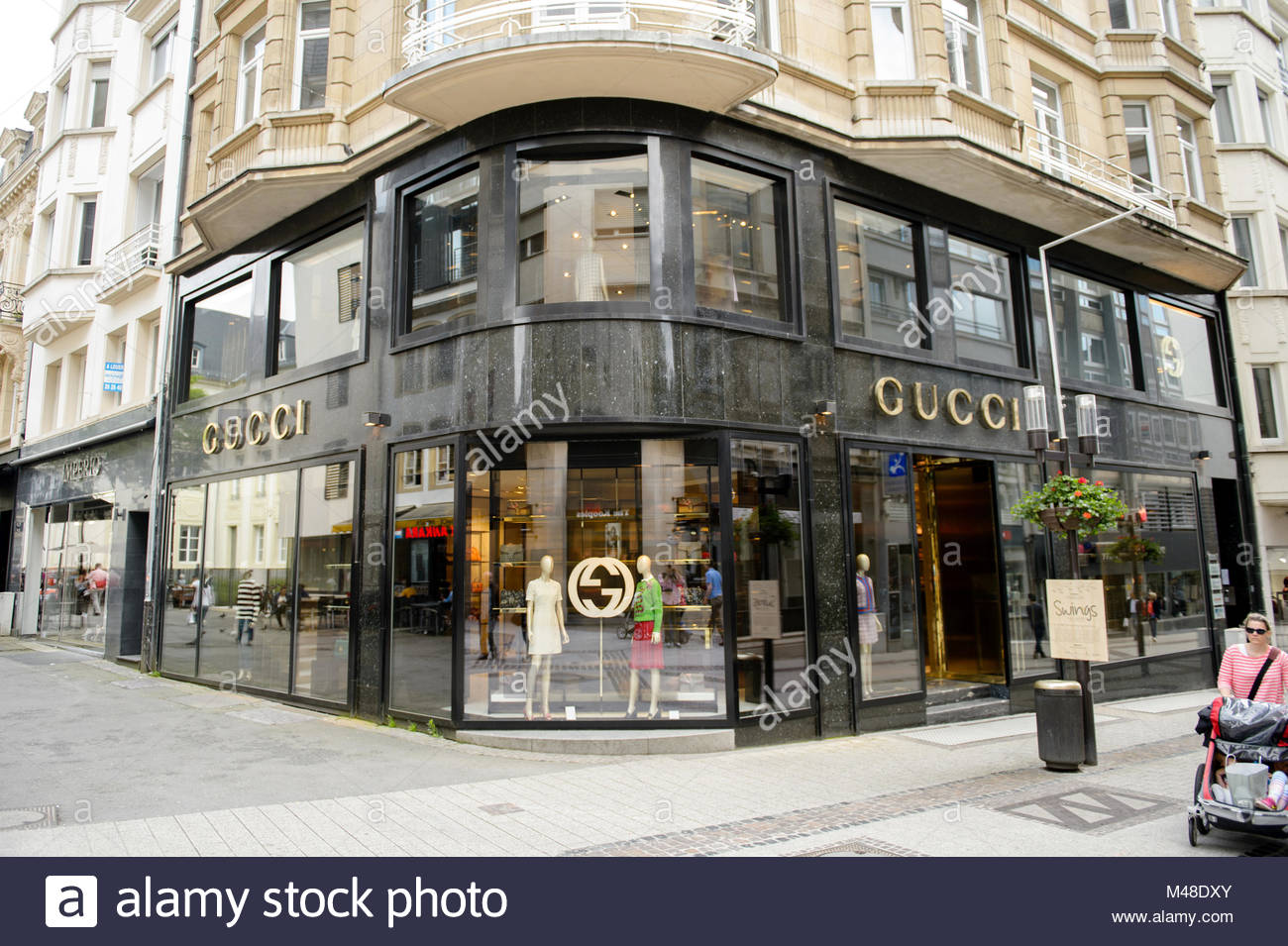 a6ec5c98008 luxury fashion GUCCI store in central Luxembourg Stock Photo ...