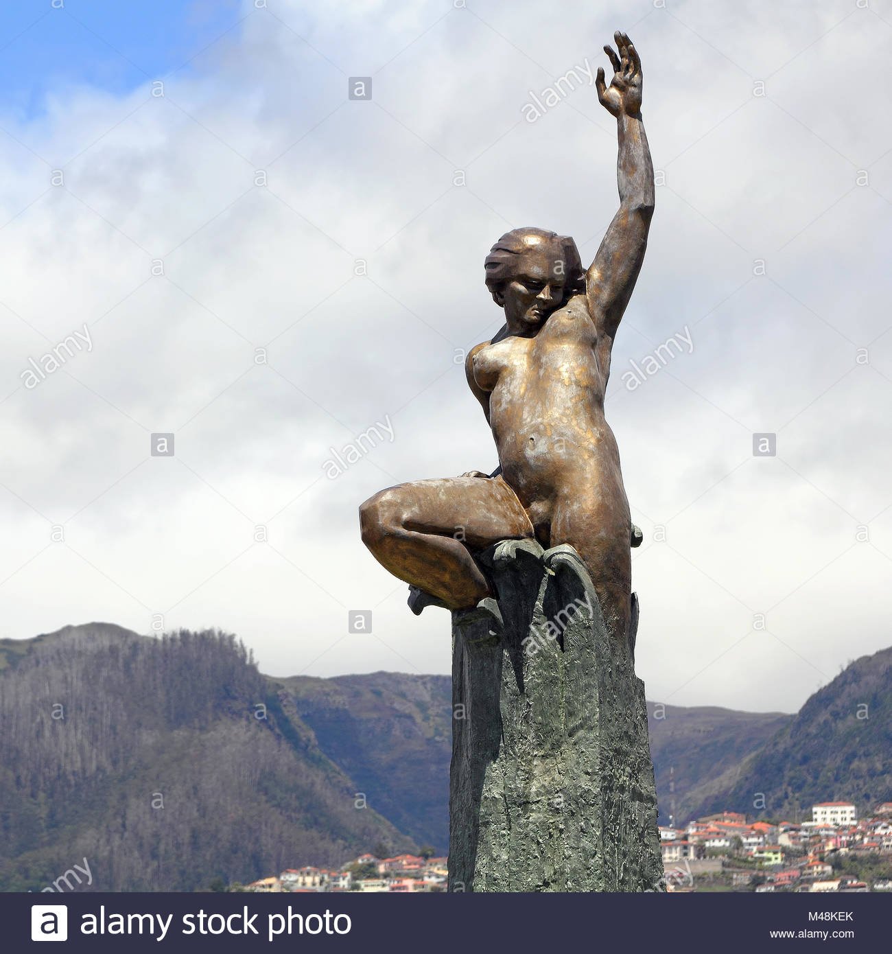 Monument of the Autonomy of Madeira in Funchal - Stock Image