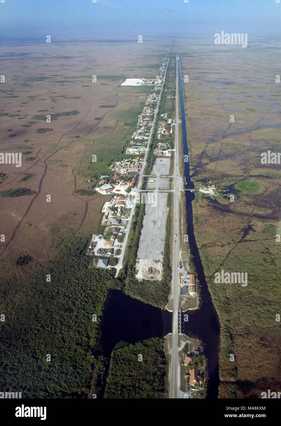 Everglades Restoration Just W of SV Hwy Miccosukee, , . Stock Photo