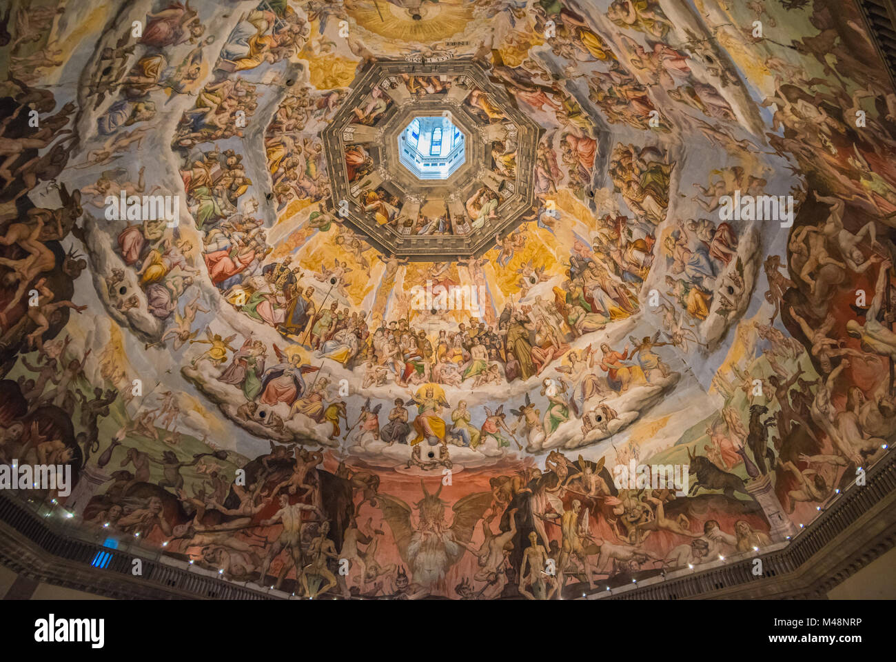 The Cupola of Duomo of Florence, Tuscany, Italy - Stock Image