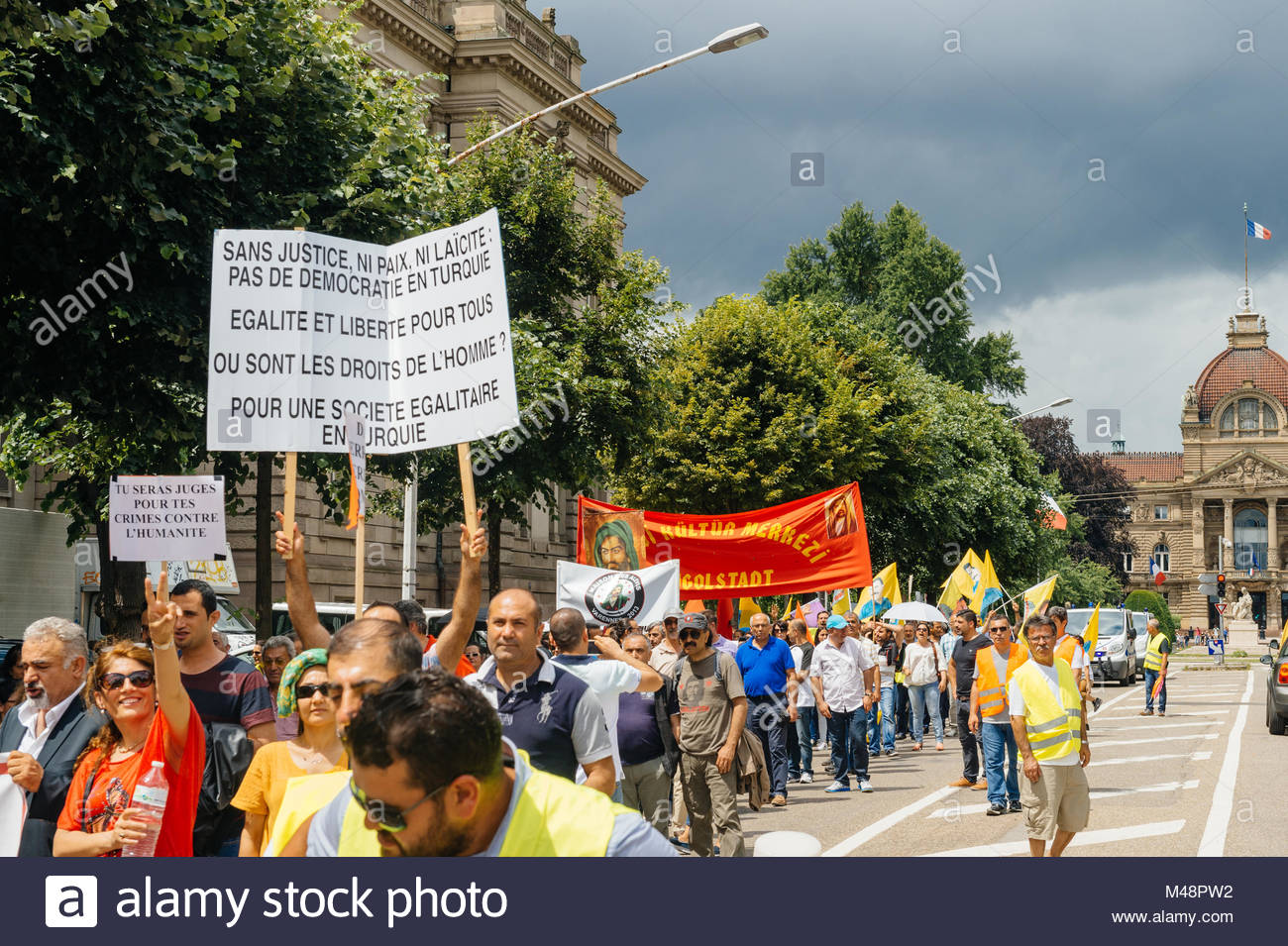 Members of Turkey's Alevi community protesting - Stock Image