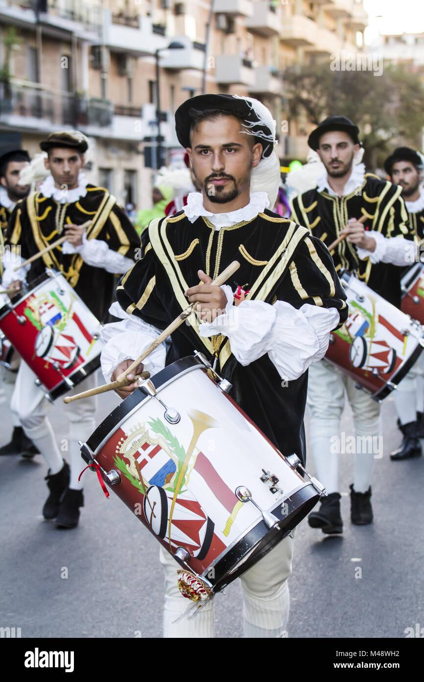 Drummers of Oristano Stock Photo