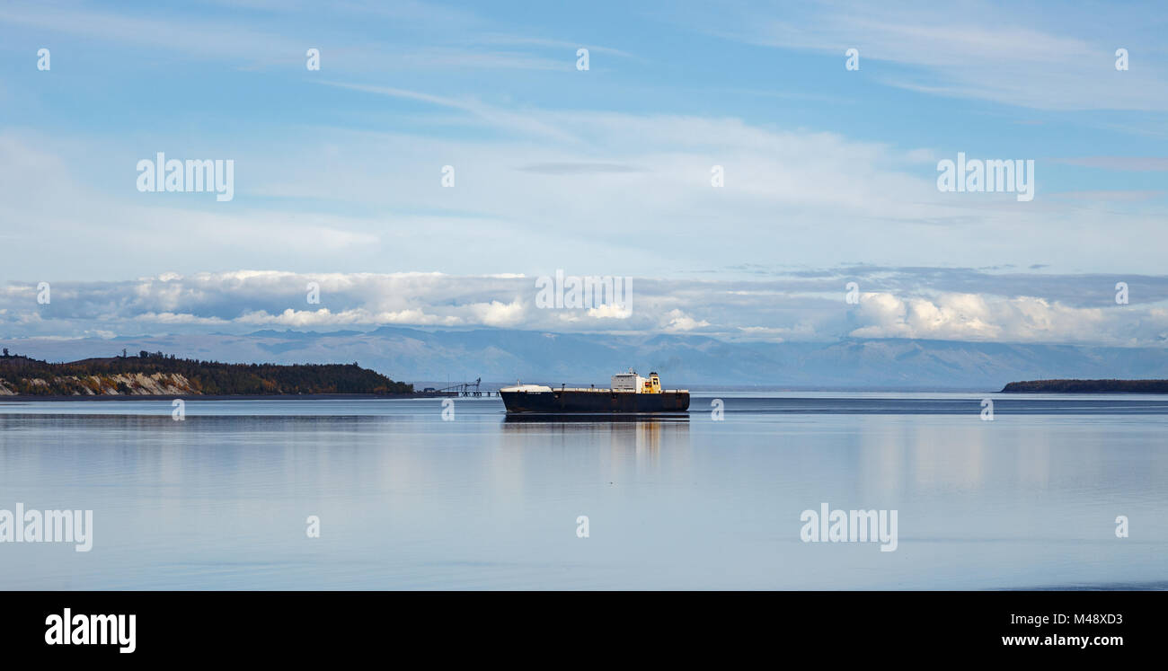 North Star (Northstar) Ro-Ro Cargo Ship (IMO: 9232280, MMSI: 369285000) built in 2003. Photographed in the Knik - Stock Image