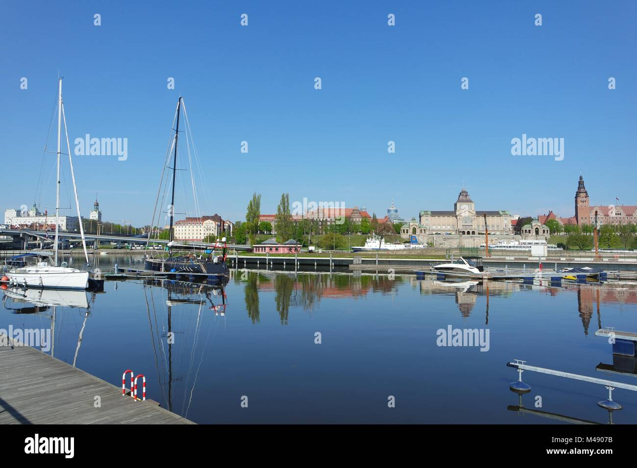 NorthEast Marina in Szczecin - Stock Image