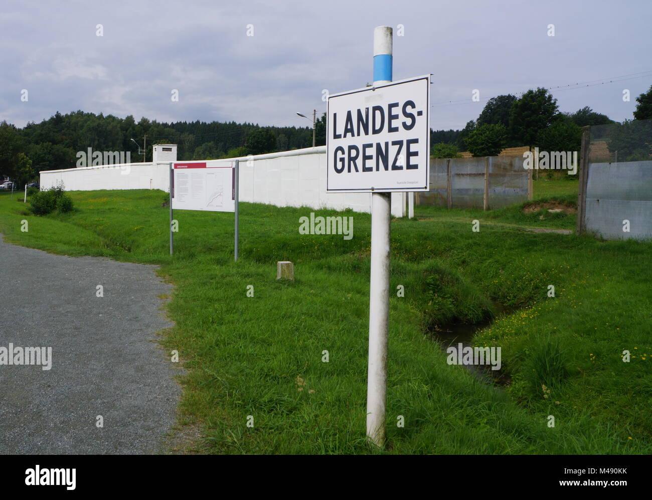 German Country Border Museum in Mödlareuth,Germany - Stock Image