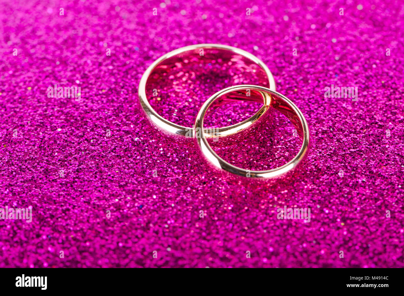 Wedding Rings In Romantic Concept Stock Photos & Wedding Rings In ...