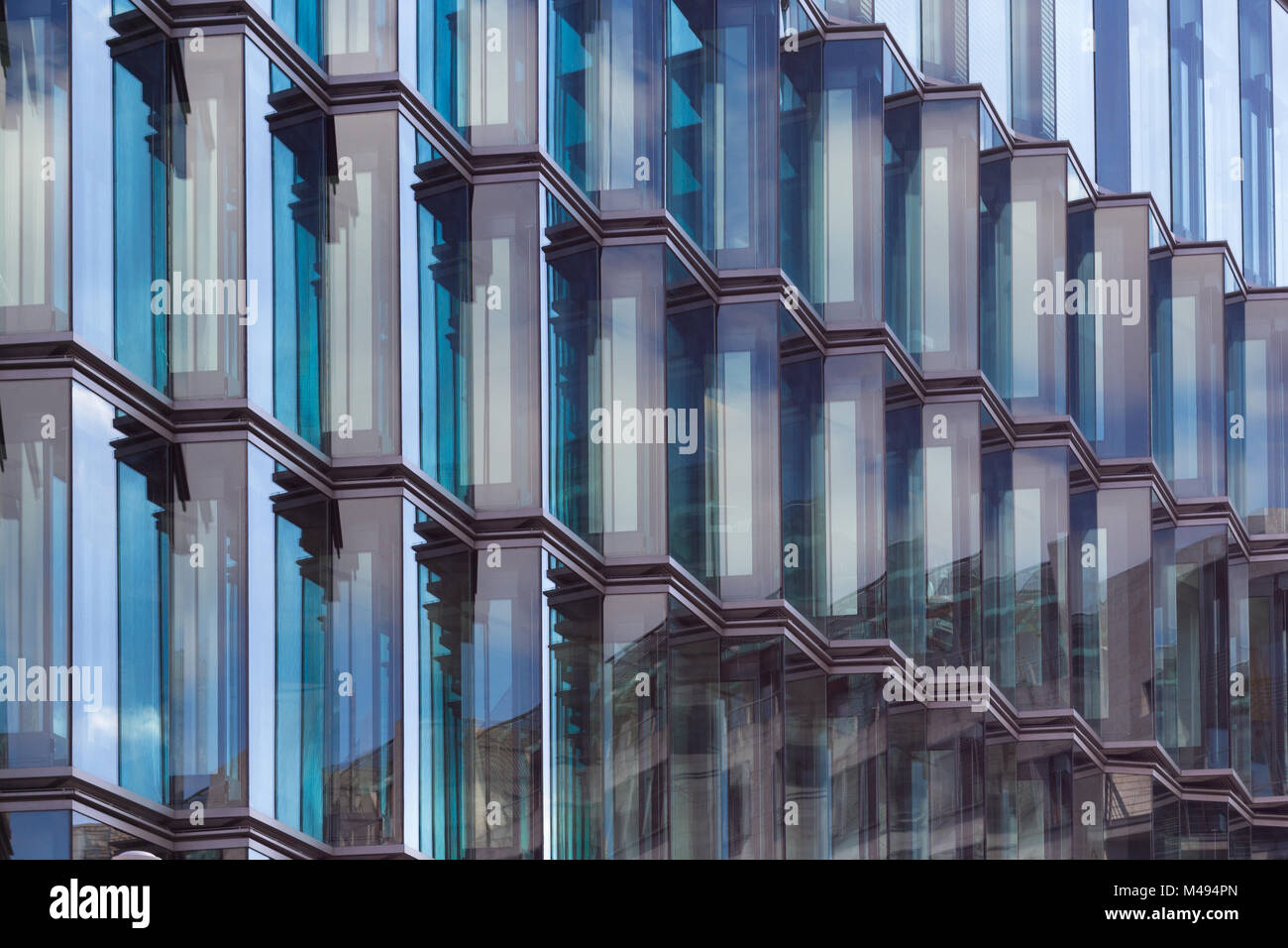 modern glass facade detail , abstract architecture - Stock Image
