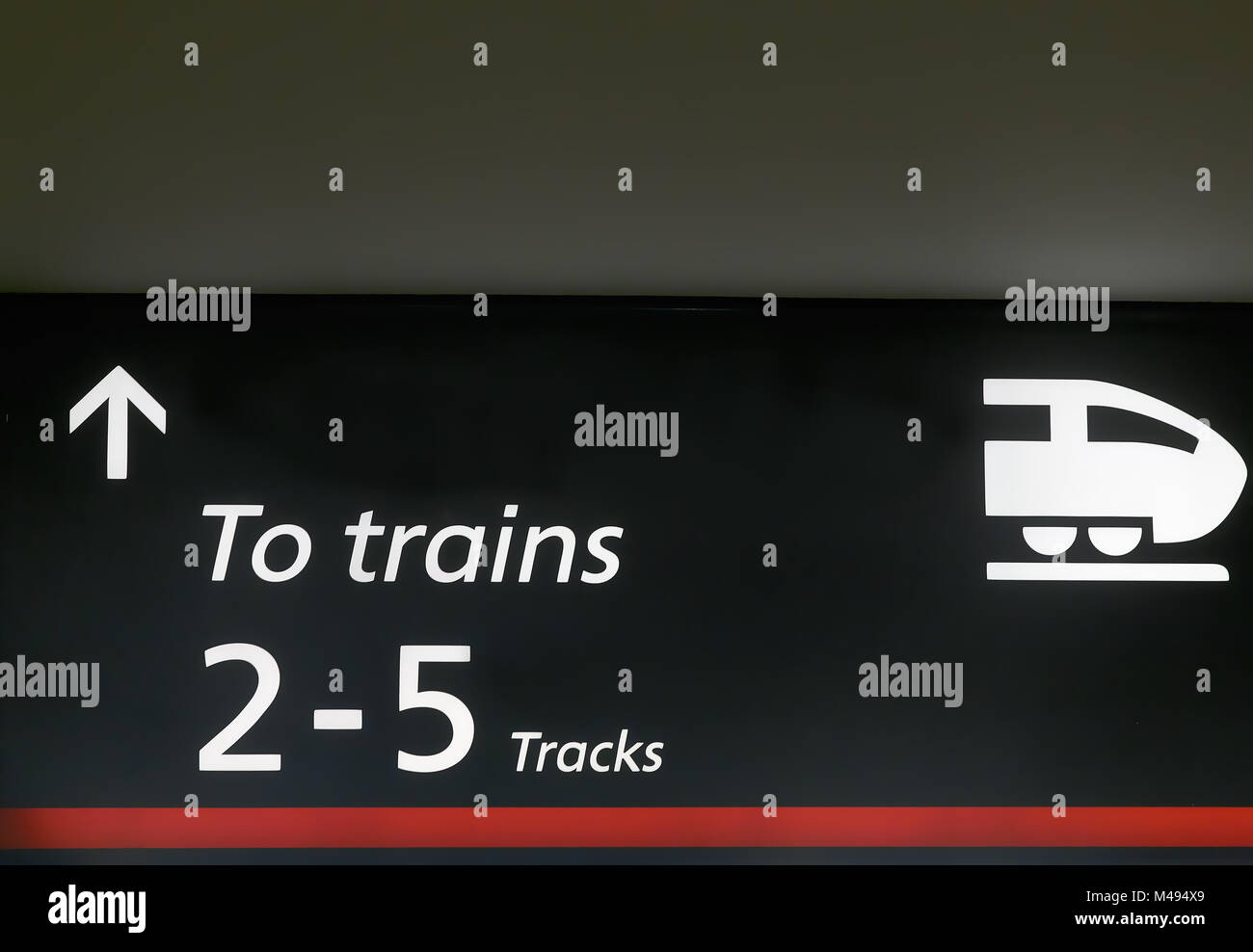 The signal output to the trains at the station. - Stock Image