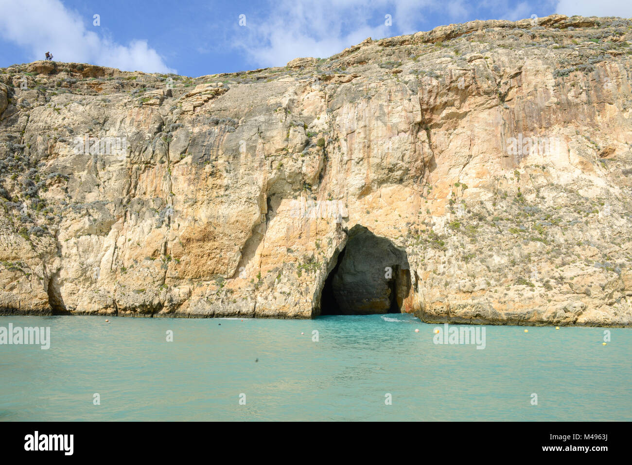 The Iconic Rock Formations at the Azure Window Dwejra Inland Sea on Gozo, Malta Stock Photo