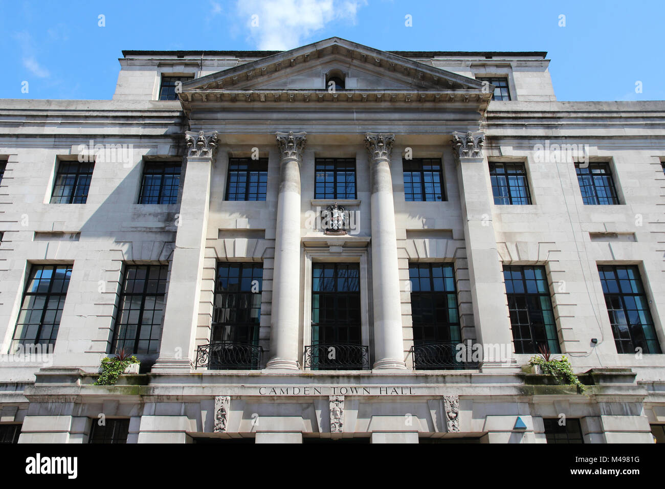London, England - Camden Town hall, old British architecture Stock Photo