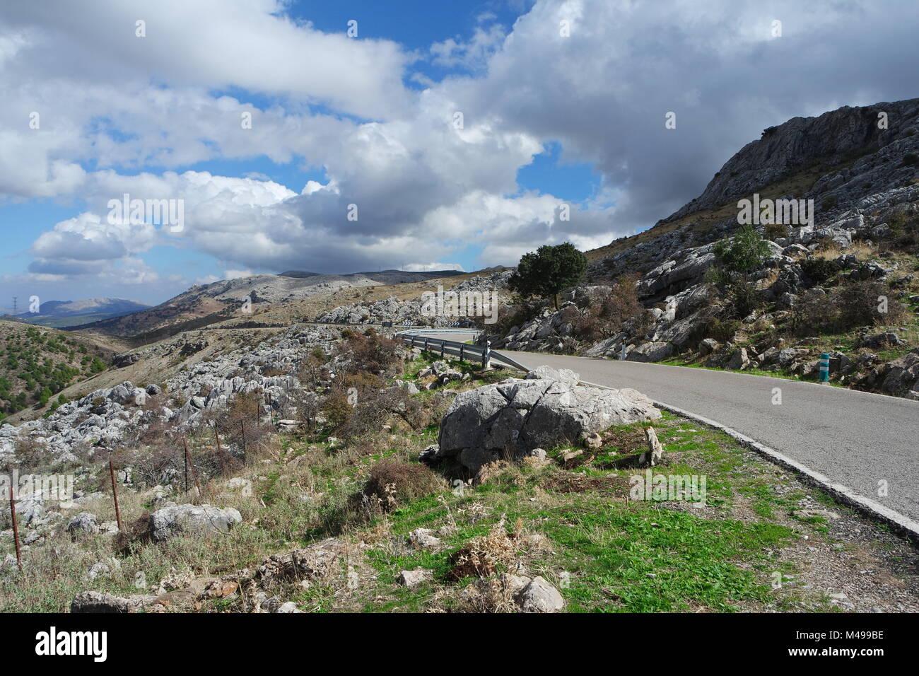 Highway by Serranía de Ronda - Stock Image