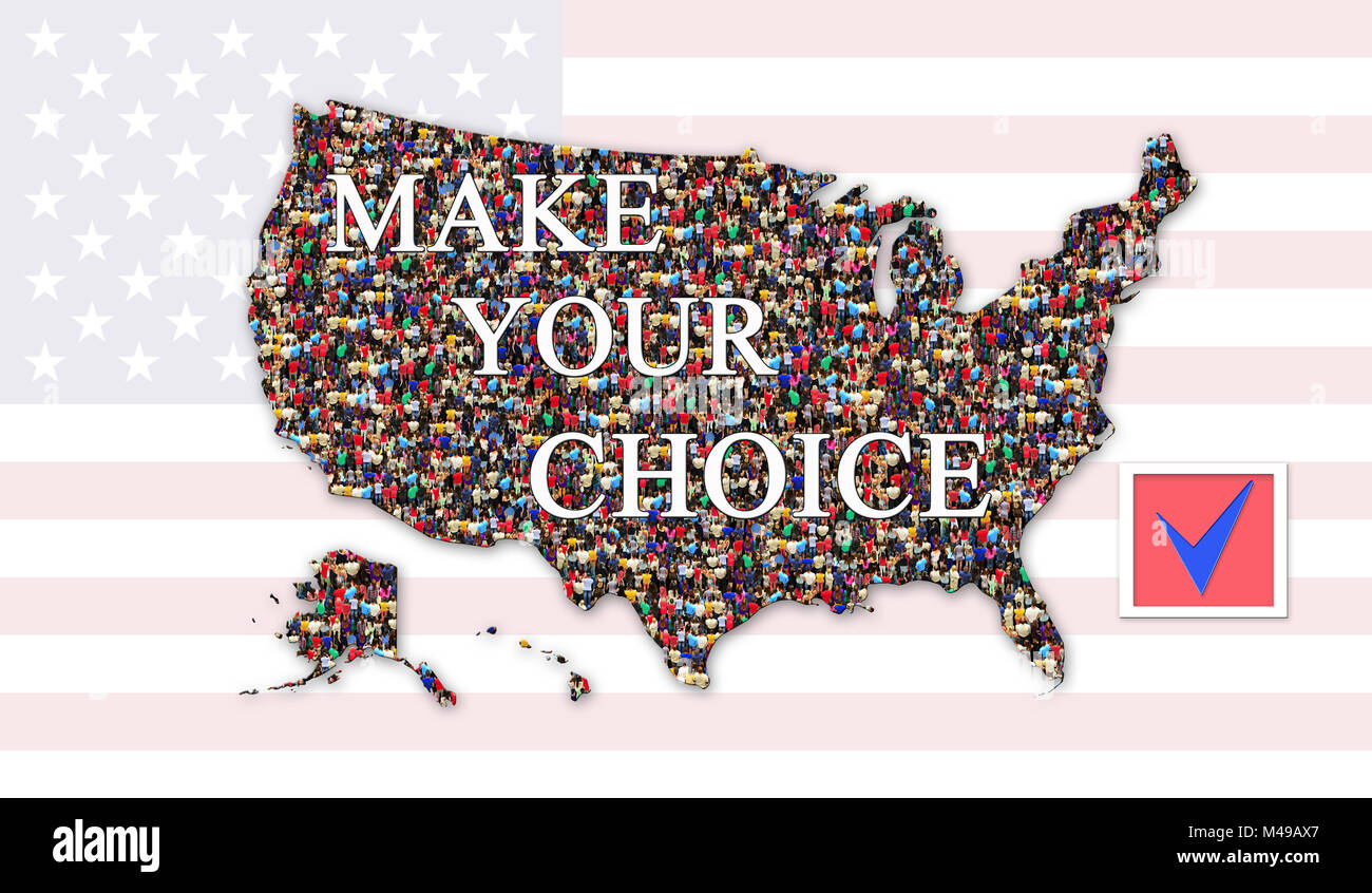 make your choice on presidential election 2016 of USA - Stock Image