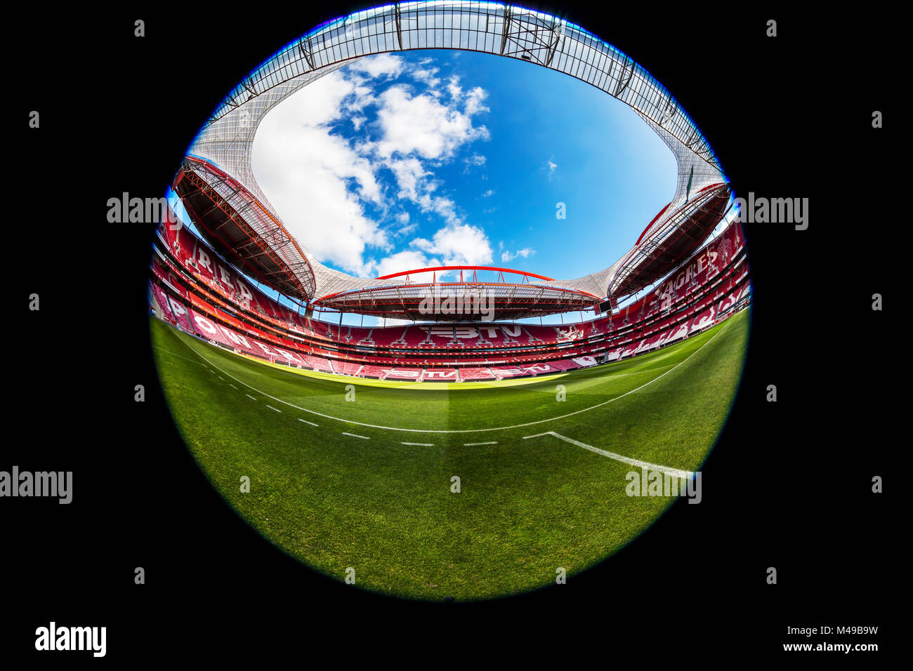 Sport Lisboa e Benfica, a Premier League Portuguese sports club based in Estádio da Luz in Lisbon, Portugal. - Stock Image