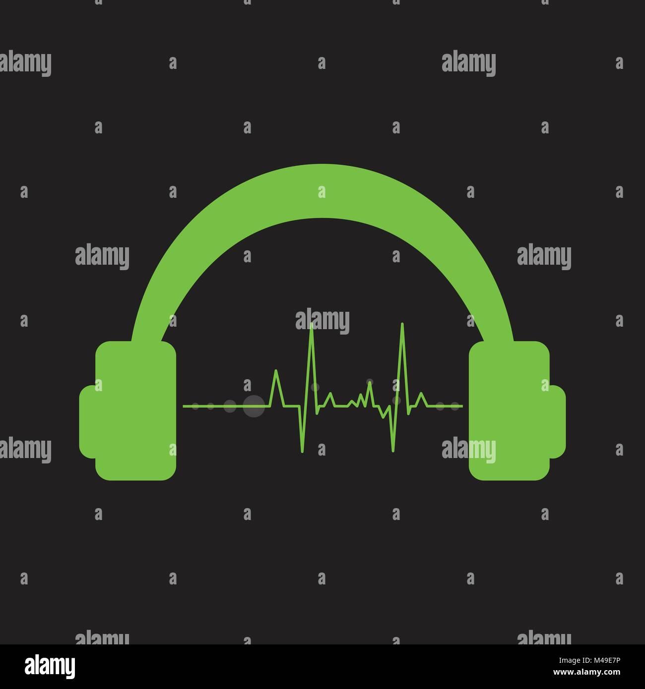 Vector volume music control concept, digital energy sound