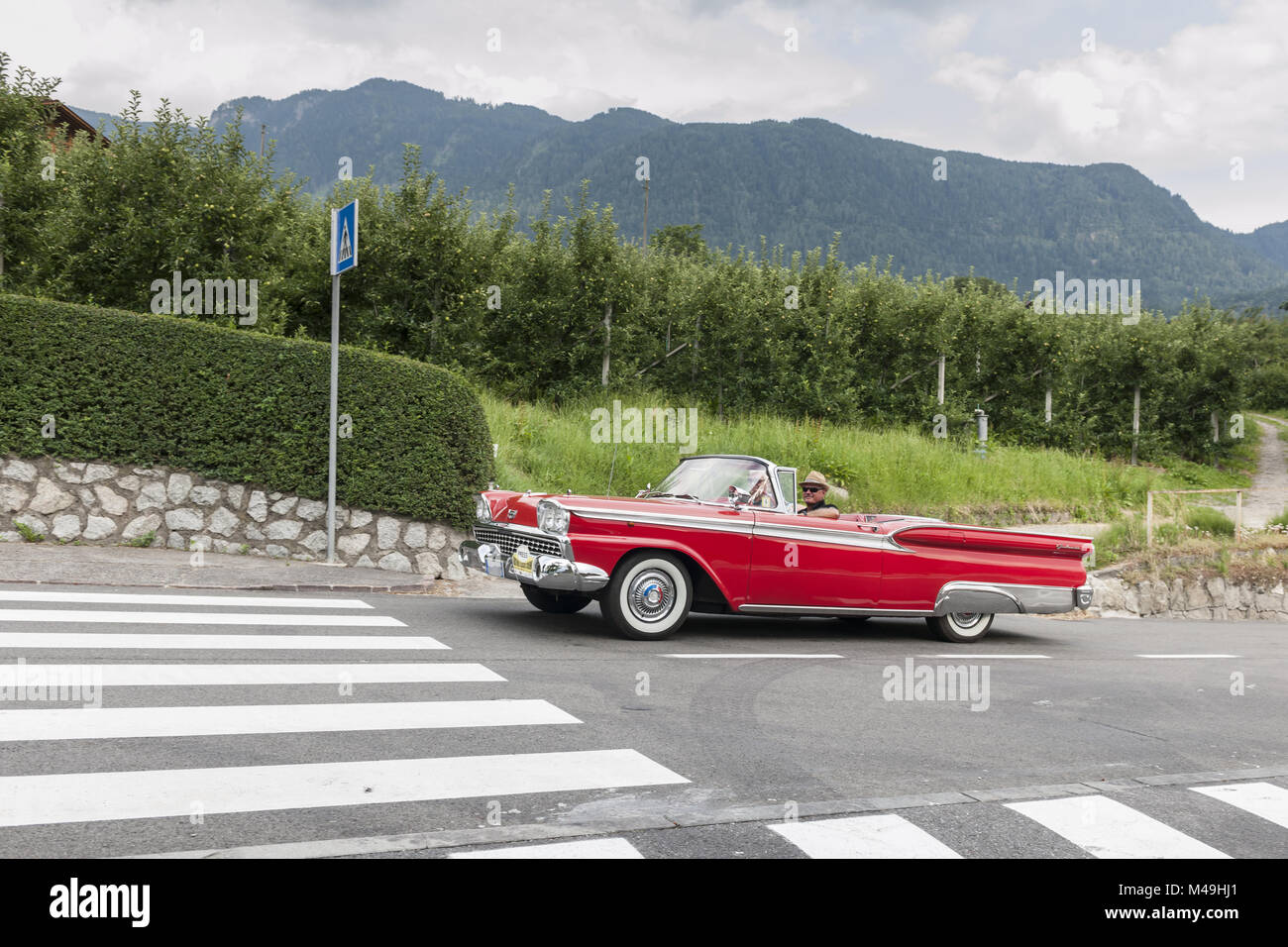 South Tyrol Rallye 2016 Ford Galaxie Convertible - Stock Image