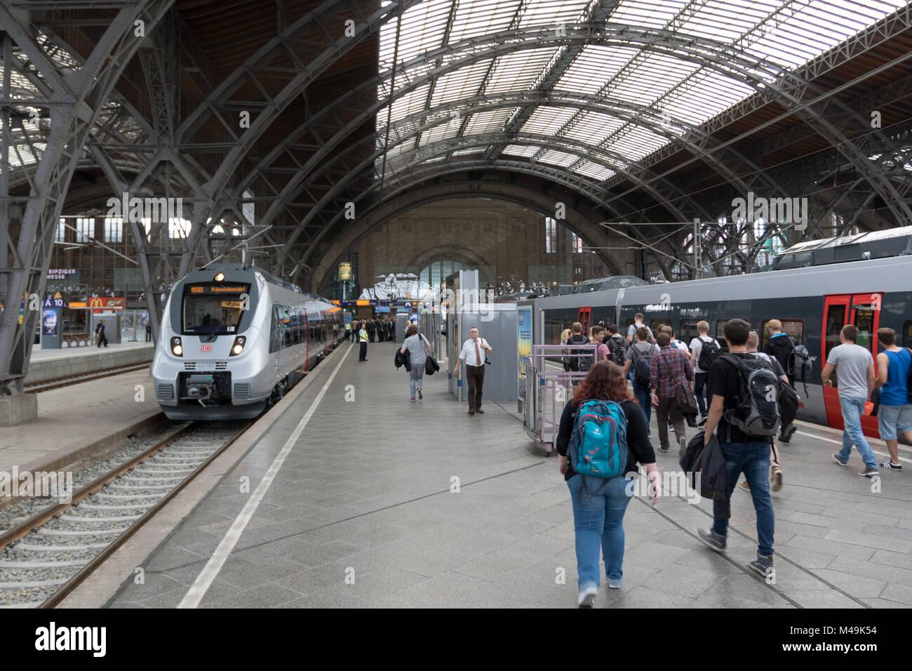 Presentation of new Trains for S-Bahn Mitteldeutschland Stock Photo