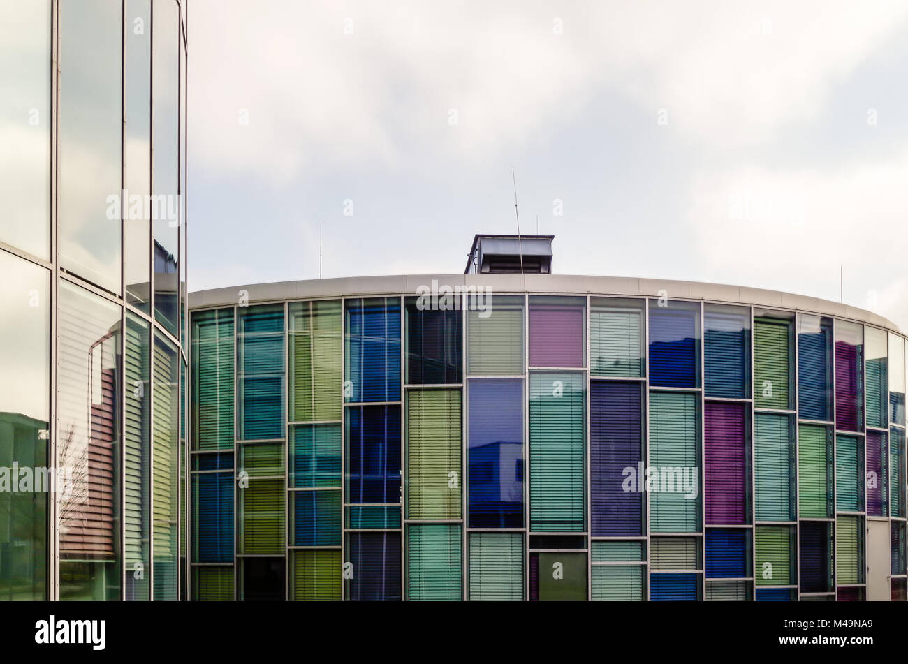 Skyscraper in the Science and Technology Park of Berlin-Adlershof, Germany. Stock Photo