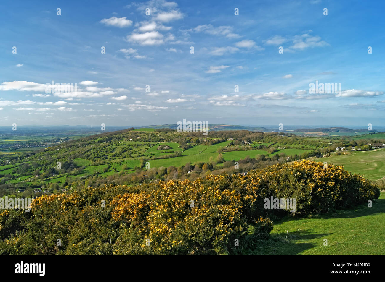 UK,Gloucestershire,Cheltenham,View from Cleve Hill - Stock Image