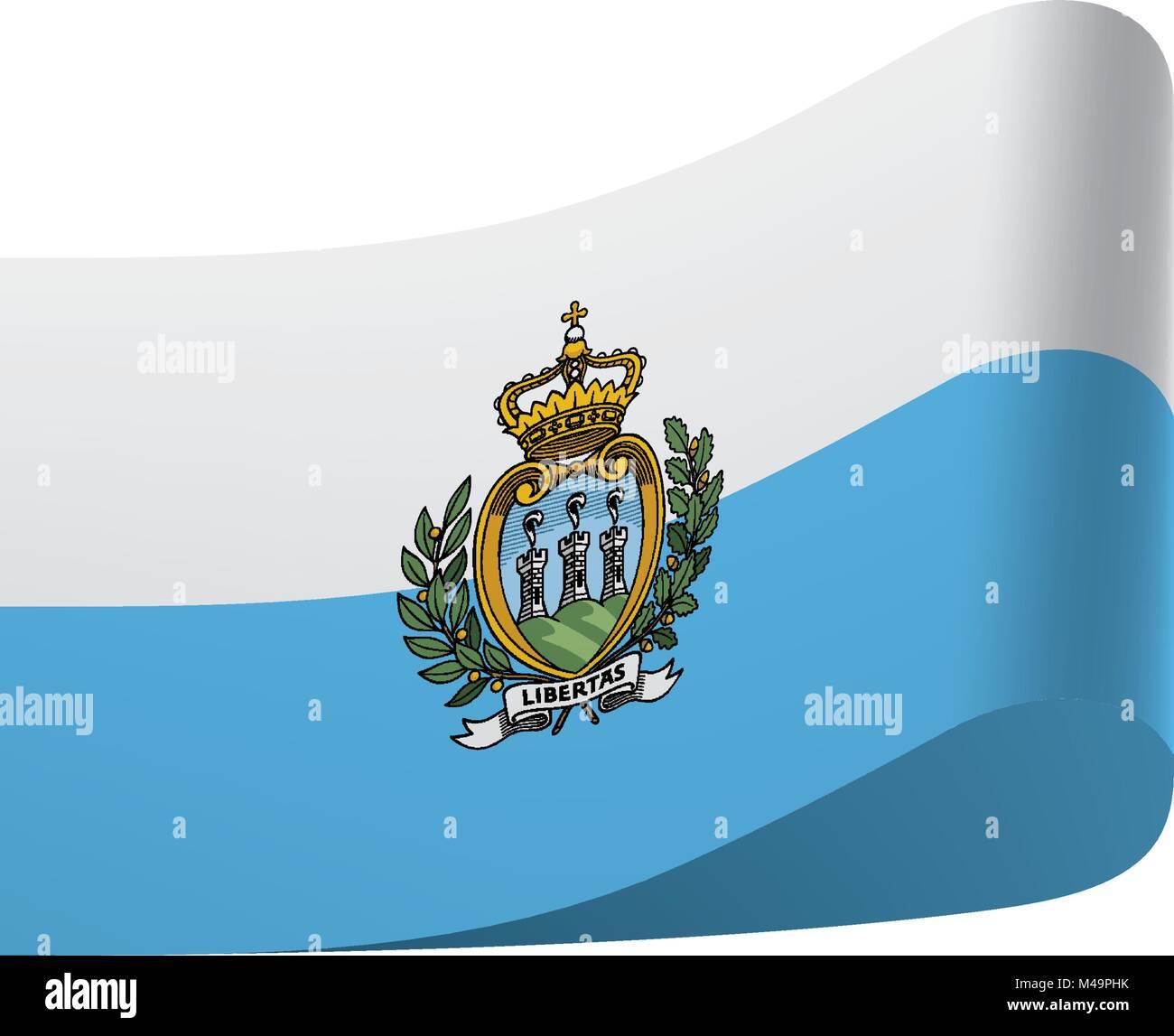 San Marino flag, vector illustration - Stock Image