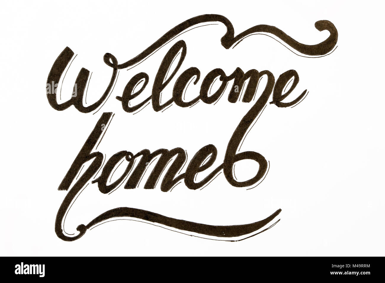 Welcome Lettering Design Stock Photos & Welcome Lettering Design ...