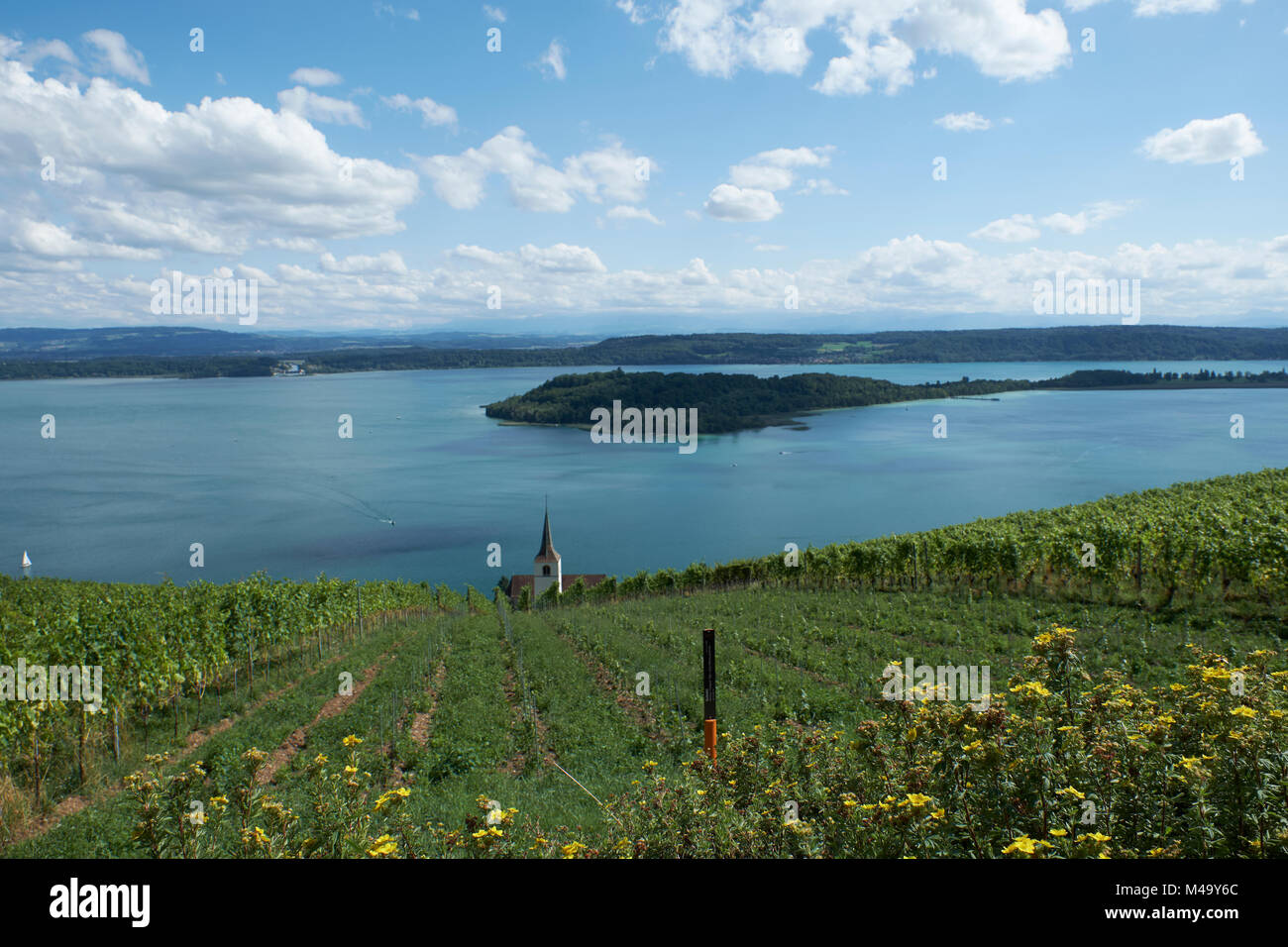 Ligerz, Switzerland, lake of Biel - Stock Image