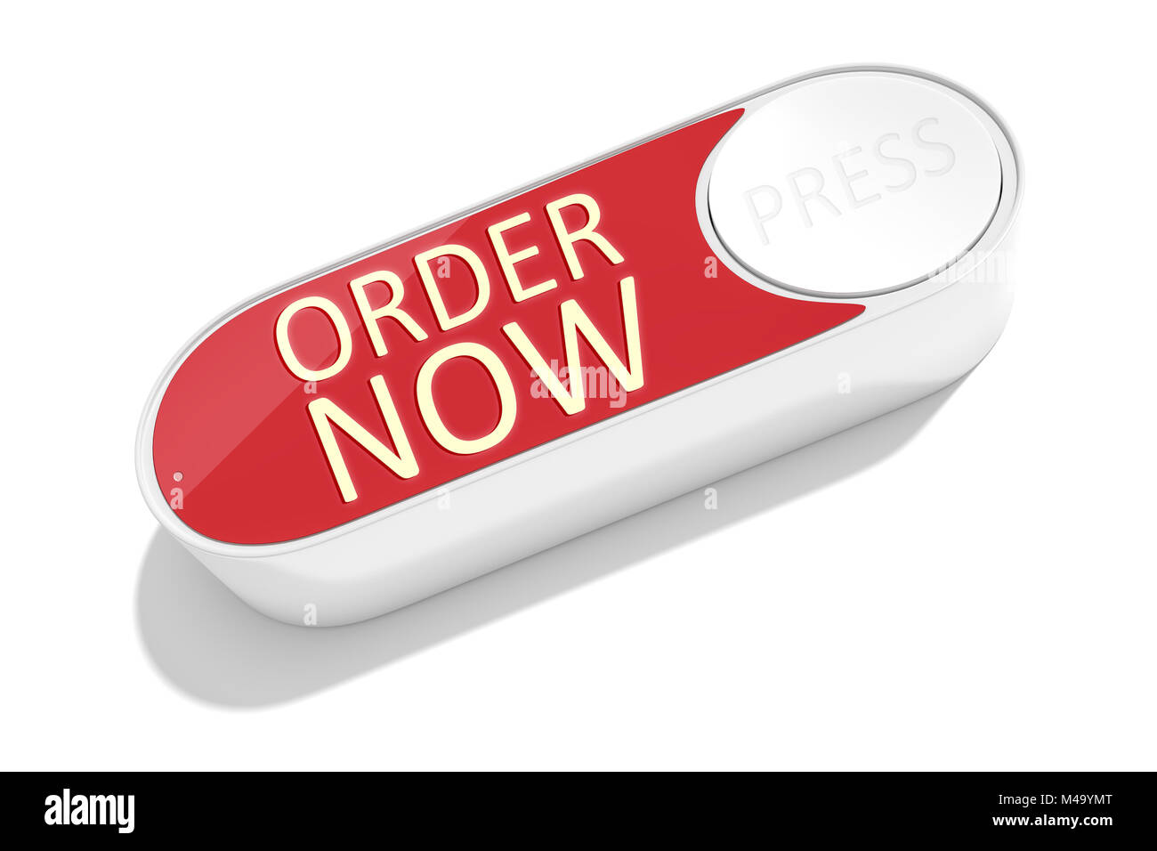 a dash button to order things in the internet - Stock Image