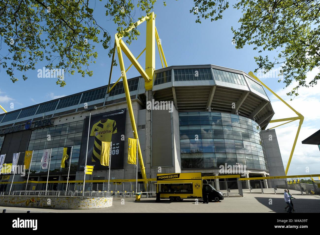 Signal Iduna Park, home of Borussia Dortmund football club, in Dortmund, North Rhine Westphalia, Germany. May 7th - Stock Image