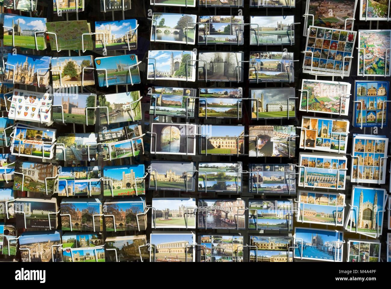 Postcards for sale Cambridge - Stock Image