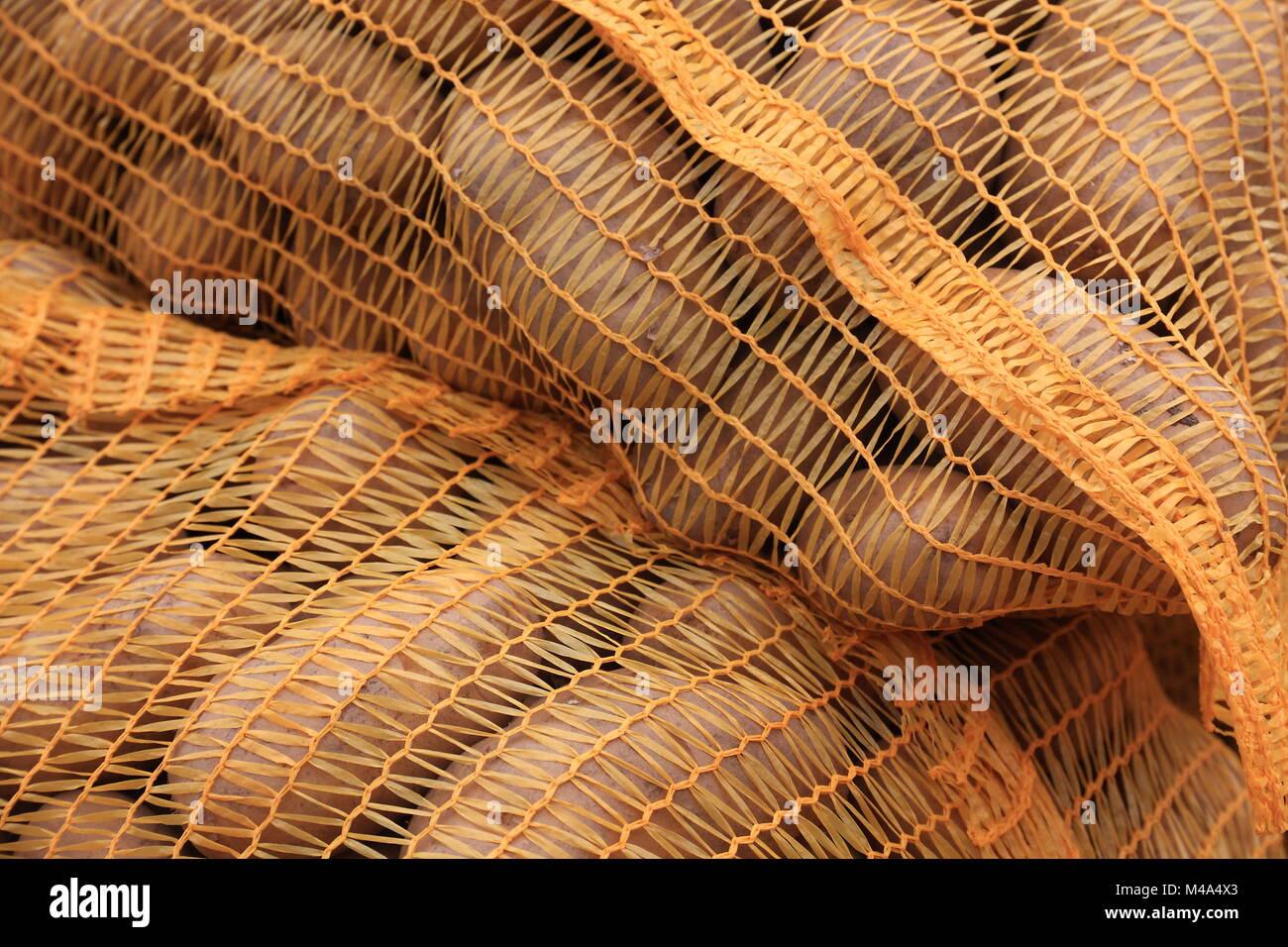 Potato sacks - Stock Image