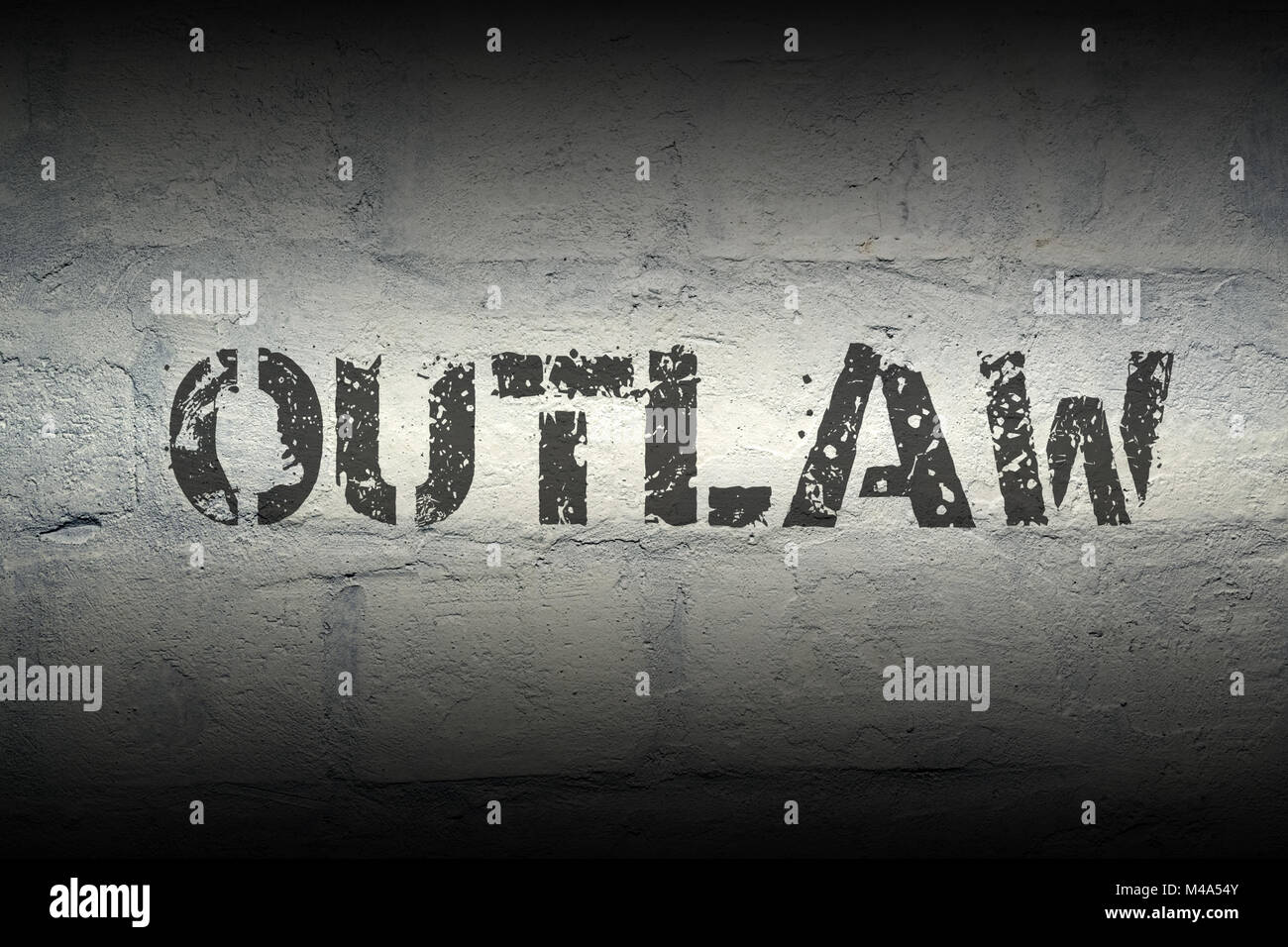 outlaw WORD GR - Stock Image