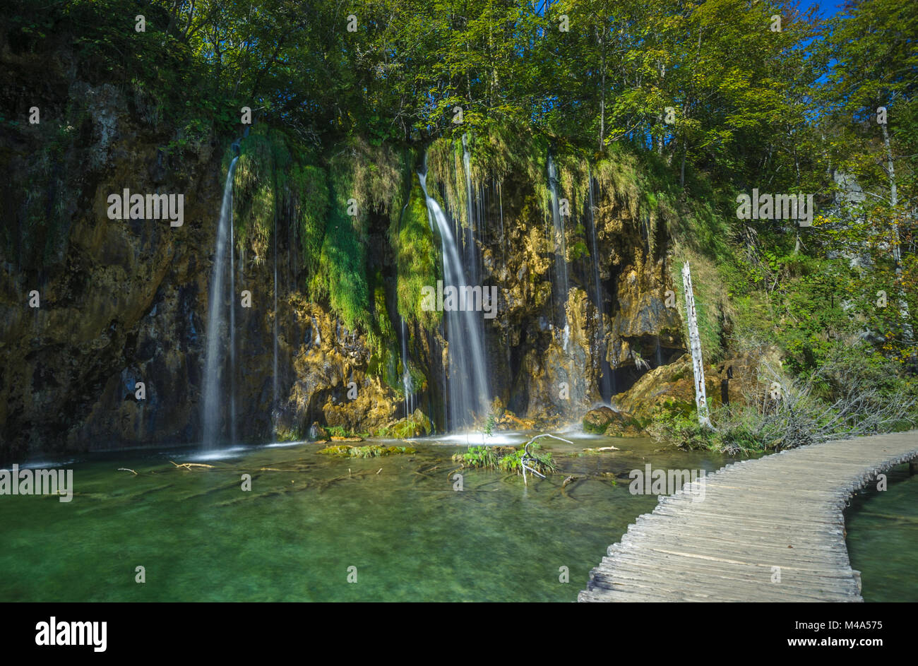 Plitvice Lakes National Park, Croatia. UNESCO world heritage site. - Stock Image