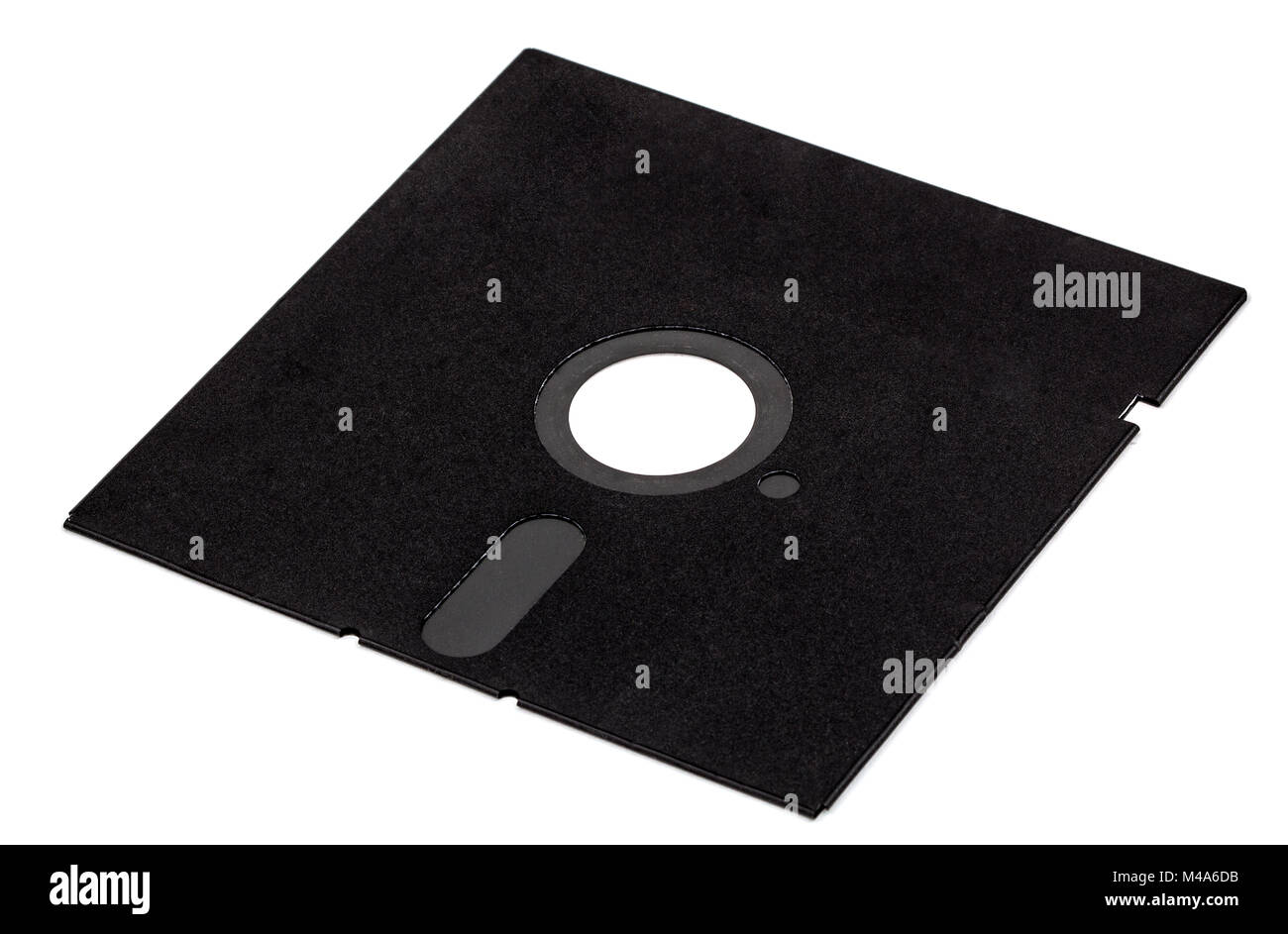 Old diskette 5 25 inches, isolated on white background - Stock Image