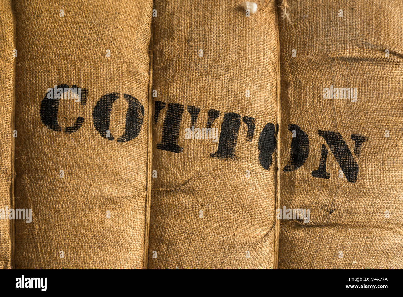 Vintage Bale Of Cotton - Stock Image