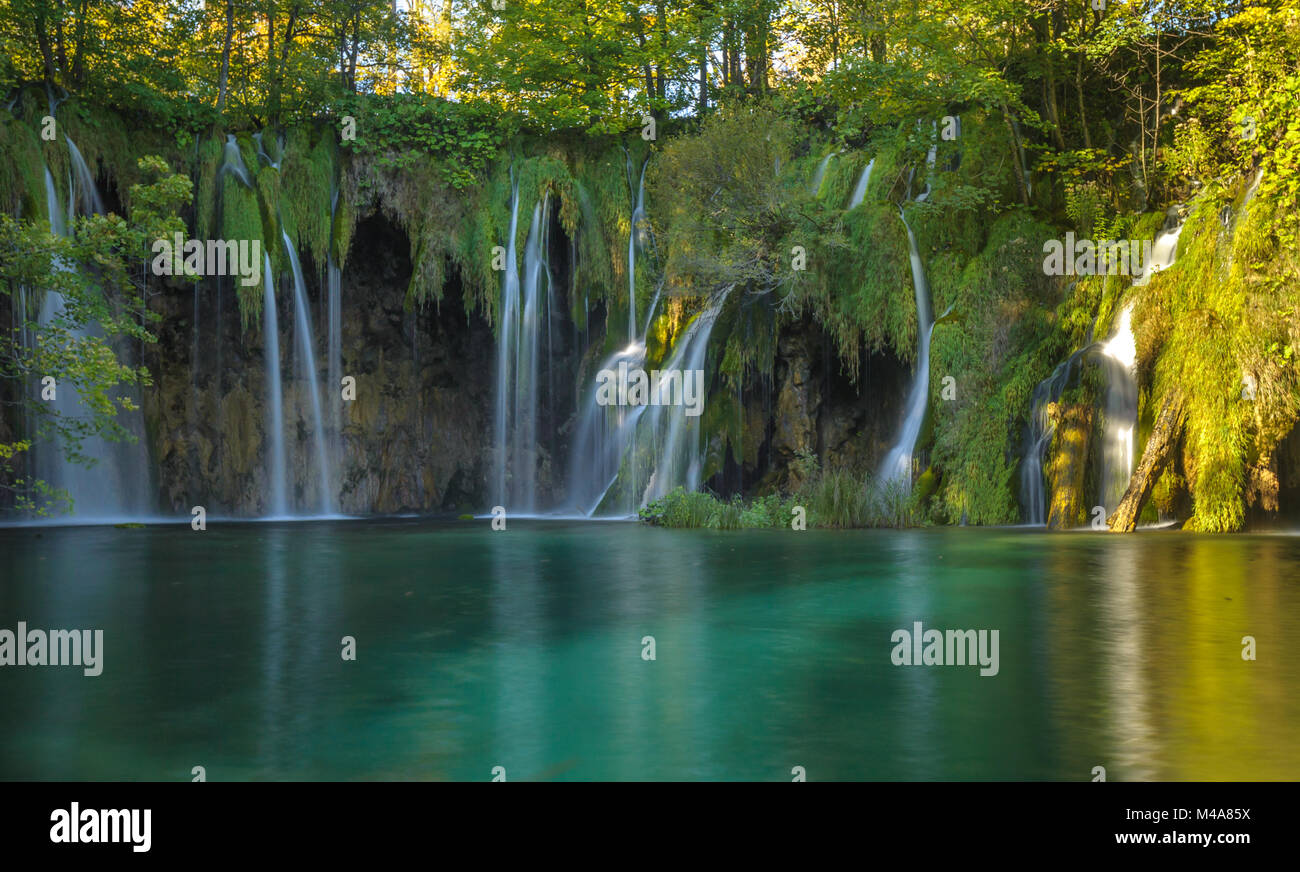 Plitvice Lakes National Park, Croatia. UNESCO world heritage site. - Stock Image