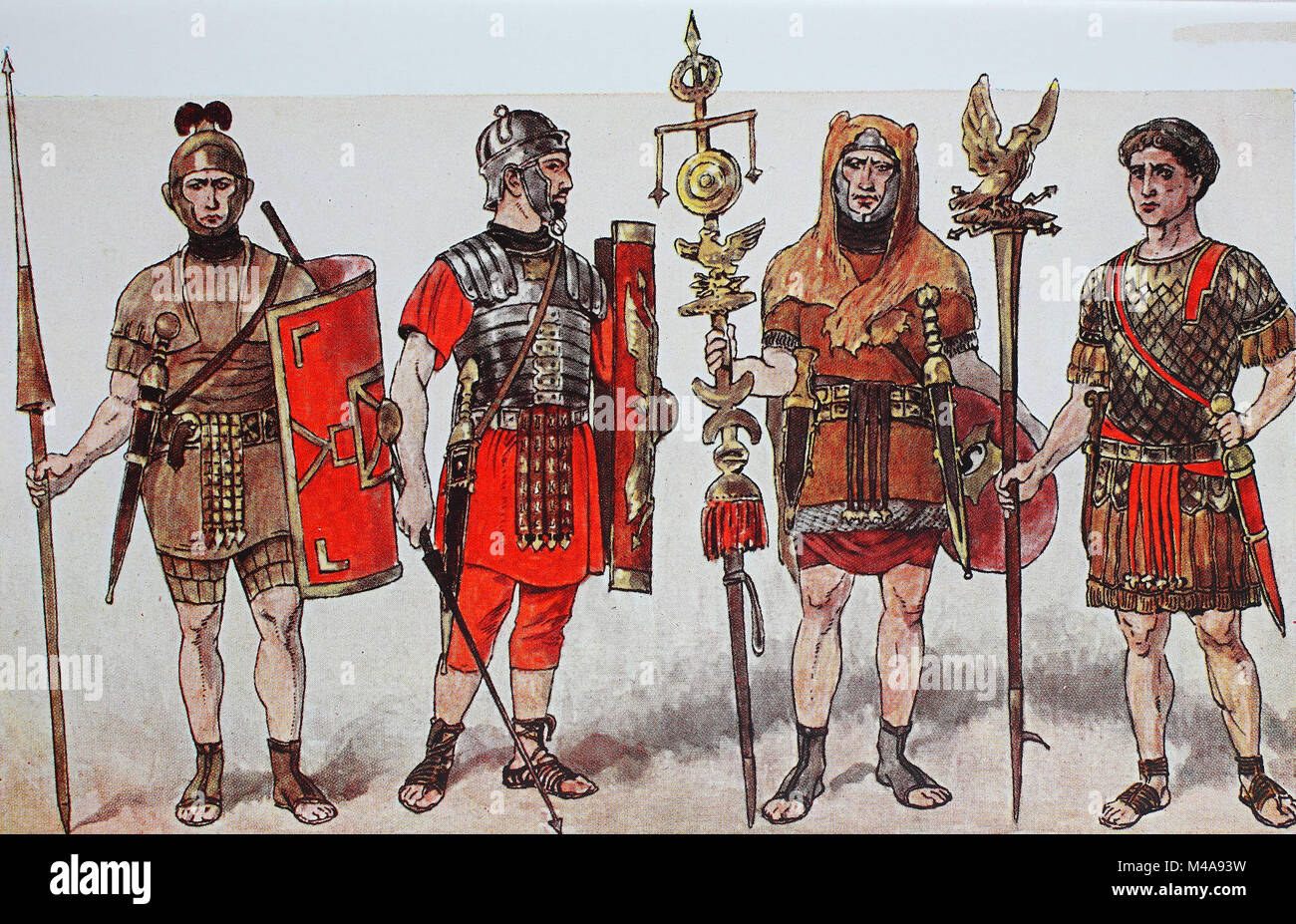 Fashion, clothing in Italy, Rome, armies and fencing of the imperial