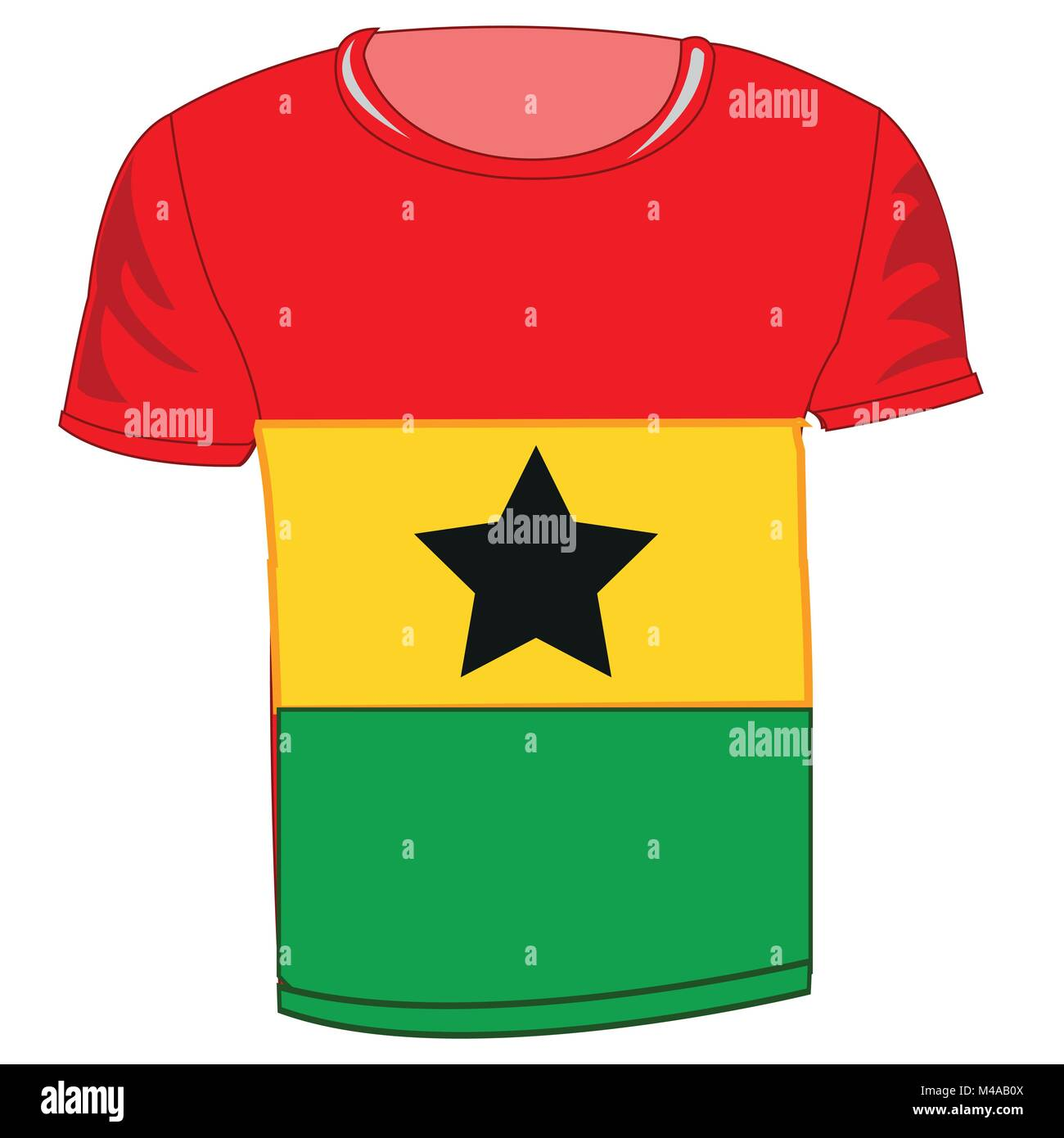Cloth with flag state is Ghana - Stock Vector