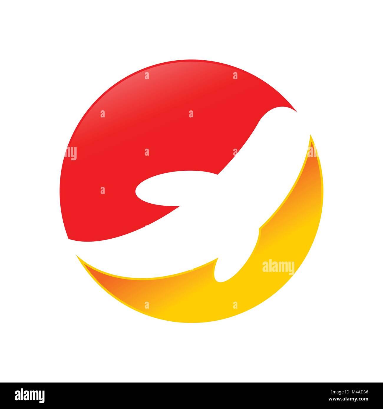 Abstract Koi Fish Vector Symbol Graphic Logo Design Stock Vector Art ...