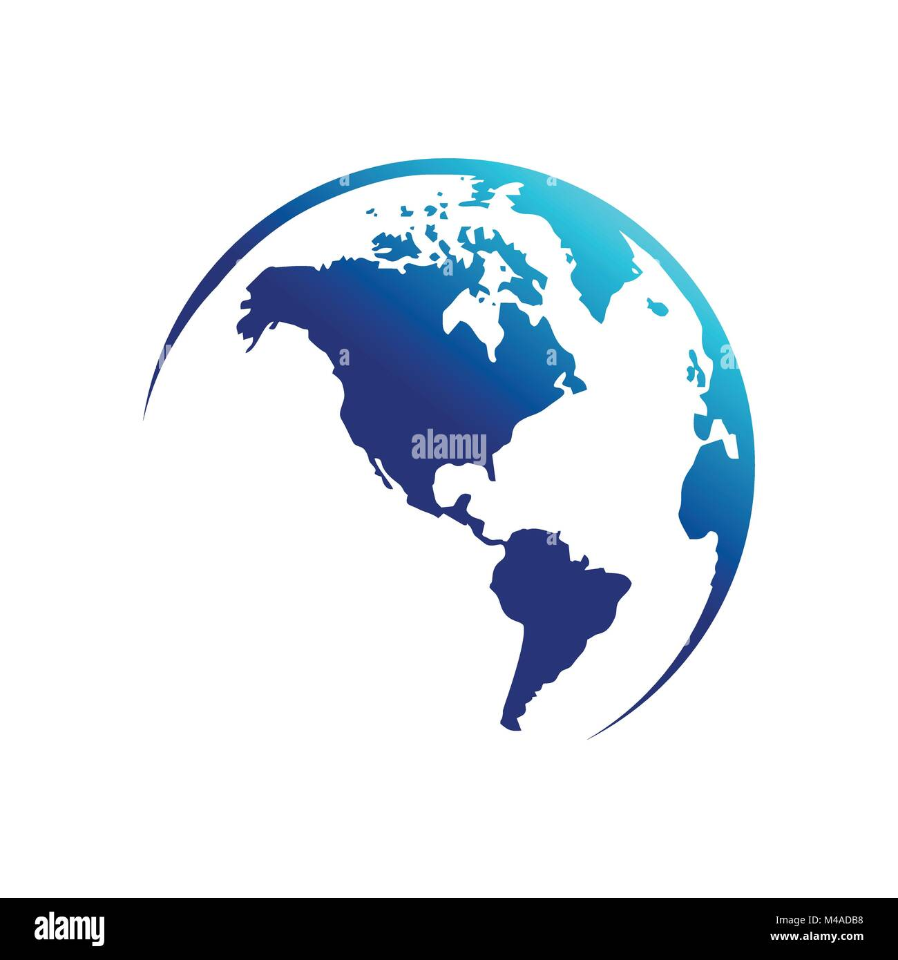 Globe logo blue world map stock vector images alamy america continent map globe vector symbol graphic logo design stock vector gumiabroncs Image collections