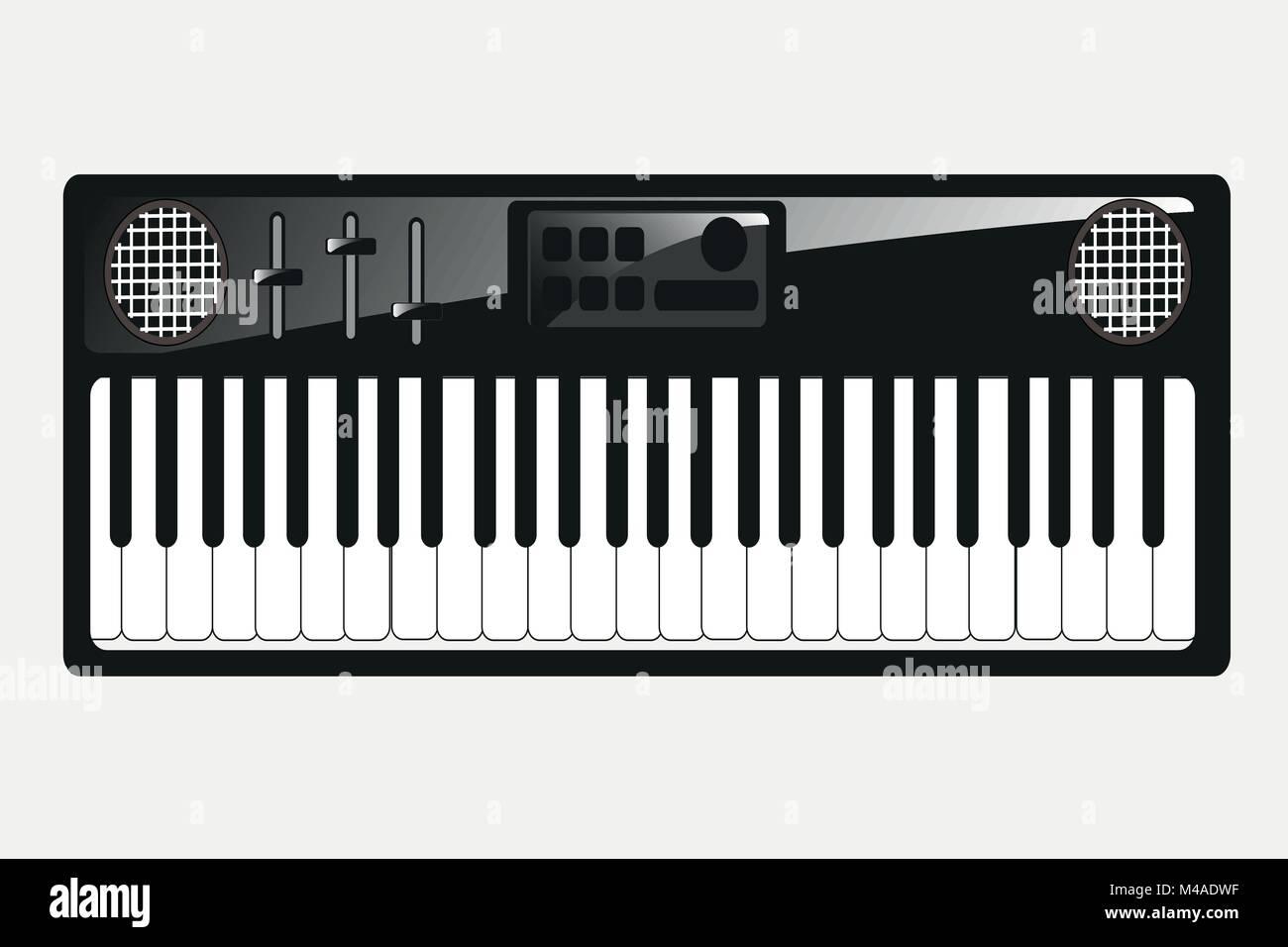 Music instrument synthesizer - Stock Image