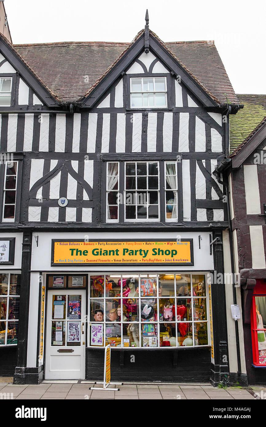 The Giant Party Shop in Mardol, Shrewsbury. - Stock Image